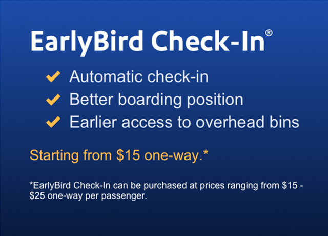 SWA Early Bird Check-In