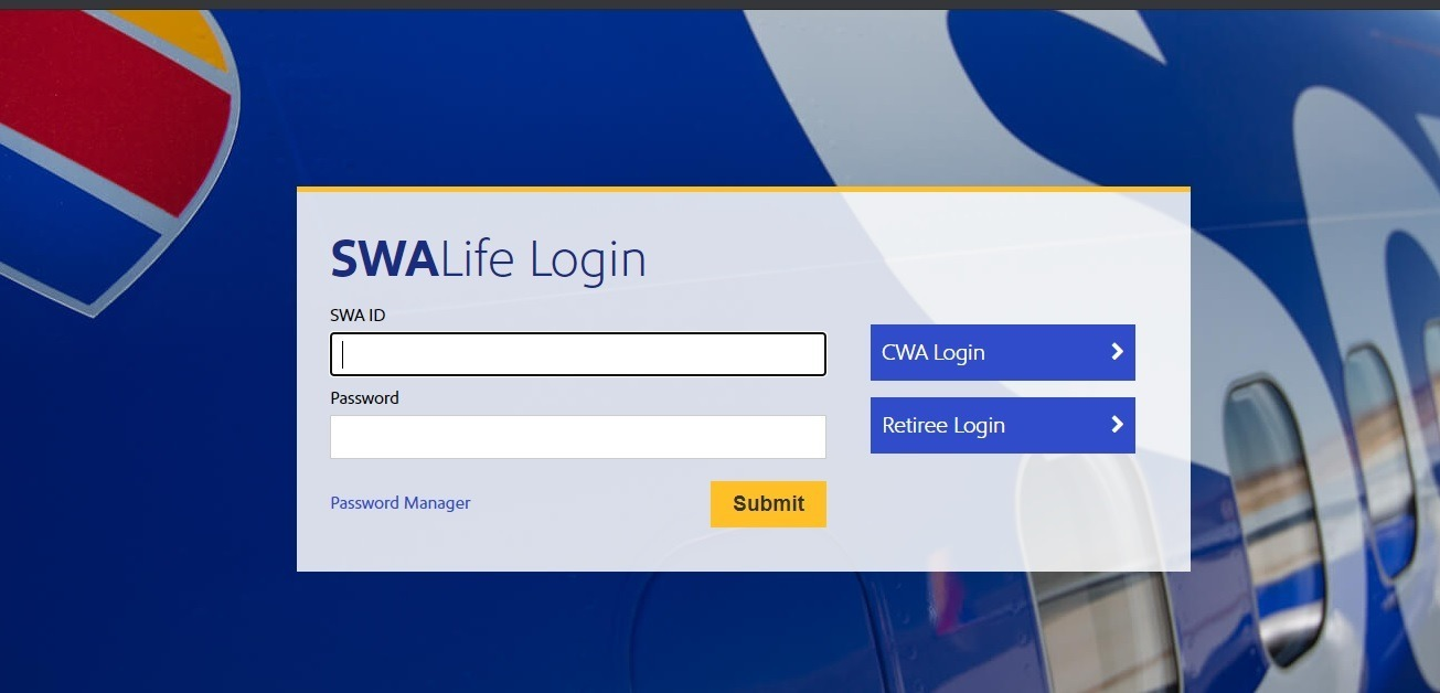 southwest airlines retiree login